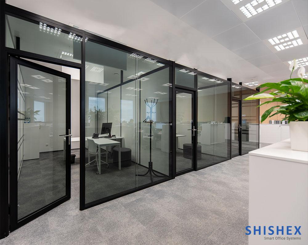 پارتیشن بندی ساختمان اداری شیشه ای
