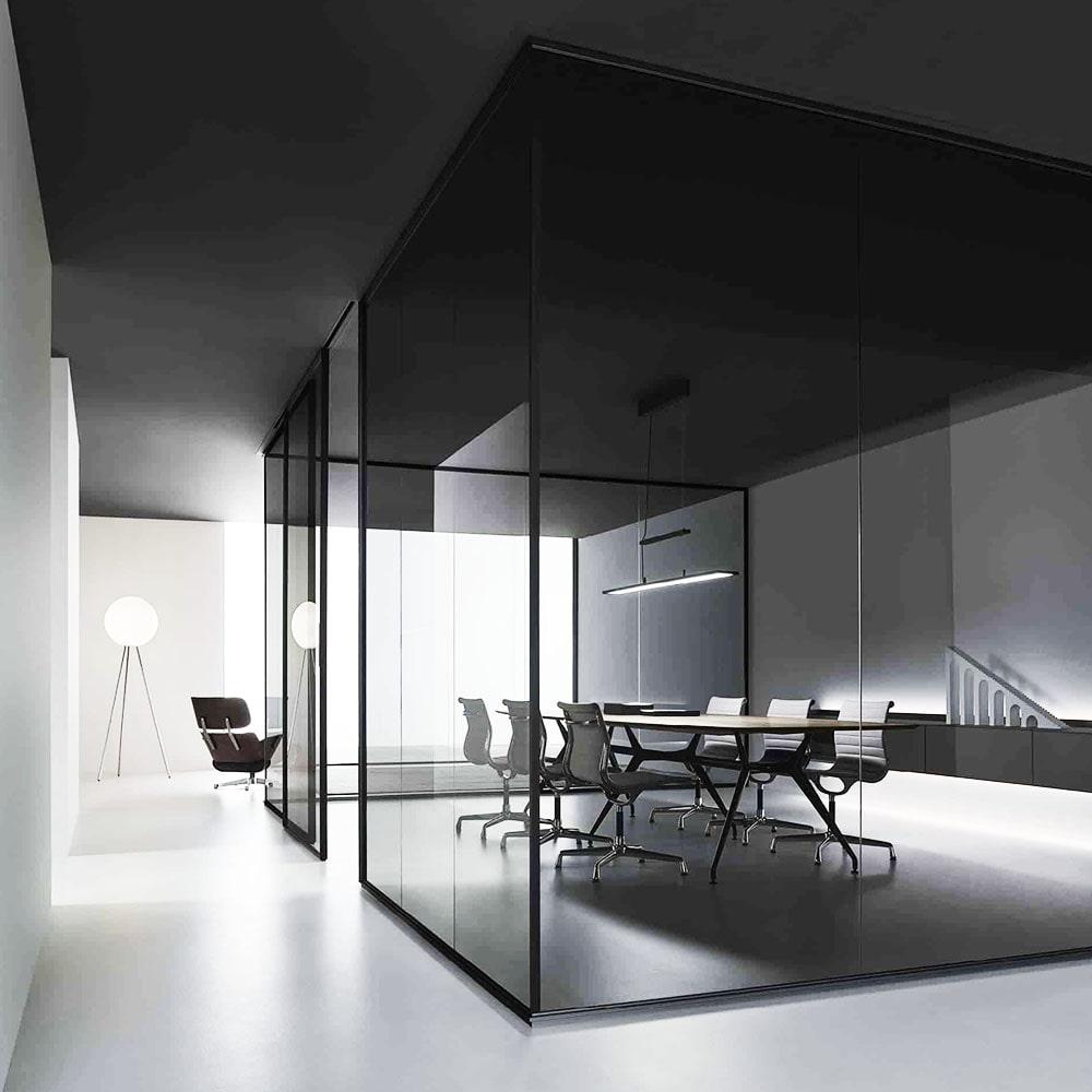 پارتیشن شیشه ای نوع تک جداره