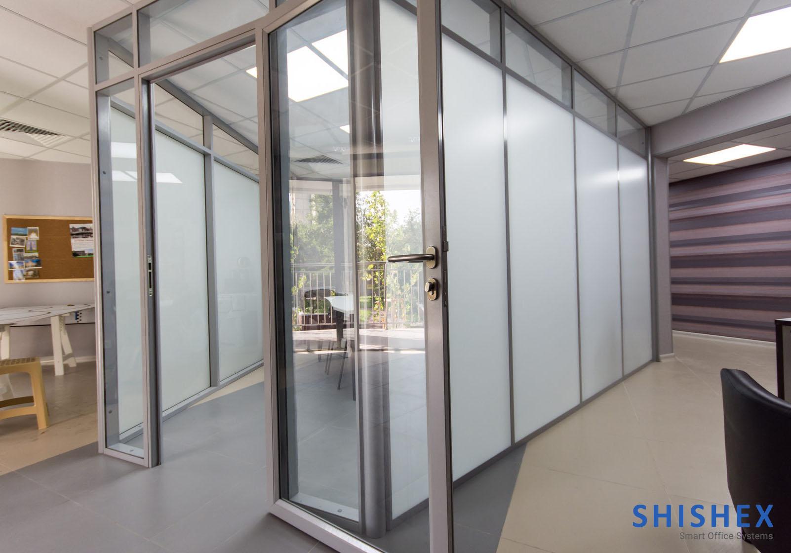 انواع پارتیشن اداری-آلومینیوم شیشه